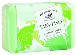 Pre De Provence Take Two Island Mint French Bar Soap 200g / 7oz Shea But... - $9.99