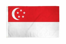 "SINGAPORE 3X5' FLAG NEW 3'X5' 3 X 5 FEET 36X60"" BIG - $9.85"