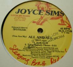 Joyce Sims - All and All - Sleeping Bag Records SLX-17 - 4 Tracks - 45 RPM - $5.00