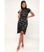Beautiful Lady Bold Love Black & Nude Lace Bodycon Dress - XS - $40.00