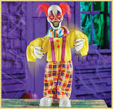 Sound Activated Scary Evil DANCING CLOWN Animated Halloween Haunted Hous... - $39.98