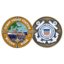 "COAST GUARD STATION WOODS HOLE 1.75"" CHALLENGE COIN - $18.04"