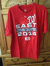 Washington nationals division champions 2014 red t shirt size extra large by ma - $24.99