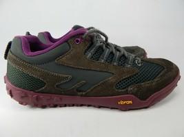 Hi-Tec Apollo Size 6 M (B) EU 37 Women's Trail Running Shoes Purple Gray YF136