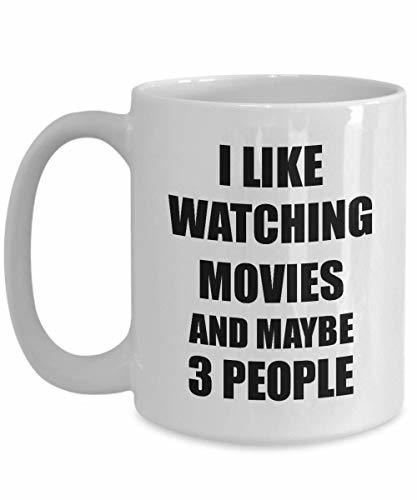 Primary image for Watching Movies Mug Lover I Like Funny Gift Idea for Hobby Addict Novelty Pun Co