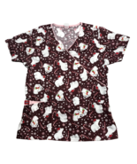 Dickies Polar Bear Candy Cane Christmas Scrub Top Medical Shirt Holiday ... - $16.67