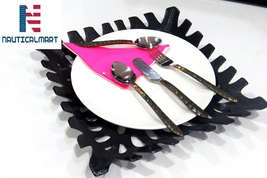 Al-Nurayn Stainless Steel Brass Flatware Cutlery Set Of 4 By NauticalMart - $99.00