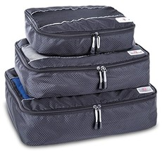 Suvelle 3pc Set Packing Cubes Nylon Travel Luggage Organizers & Compress... - $753,30 MXN