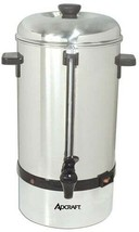 Coffee Percolator, 100 cup capacity, Auto temp. control, 120v, Adcraft C... - $175.00