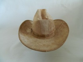 Henschel Westerns Suede Cowboy Hat Union Made in the USA Size M - $39.99