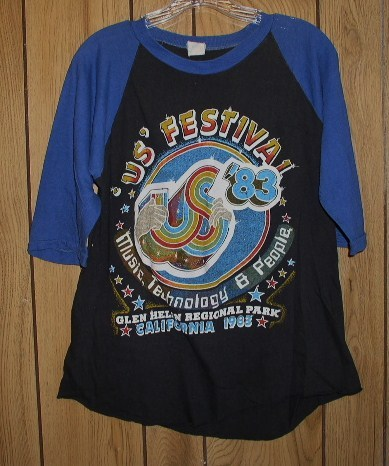 Primary image for US Festival Concert T Shirt Vintage 1983 Glen Helen CA