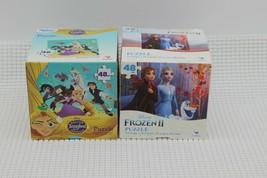 "Lot of 2 New Disney Frozen II/Disney Tangled Puzzles 9.1x10.3"" Cardinal ... - $11.87"