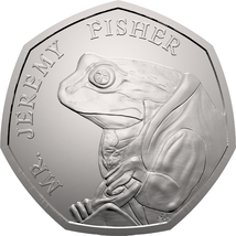 Jeremy Fisher BU 50p Beatrix Potter Coin - $25.70