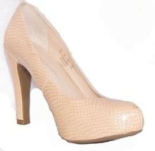 Franco Sarto 9 M Women's Beige Almond toe hidden Platform reptile finish... - $18.49