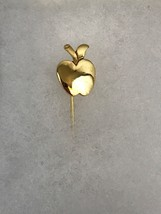 Gold Tone Apple Vintage Stickpin Collectible Gift - $7.70