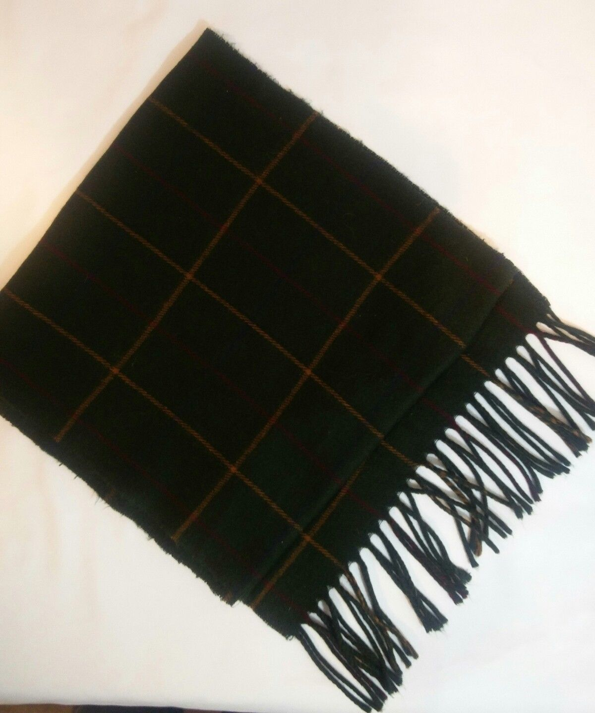 Geoffrey Beene Mens 3 Ties + CashMe Green Plaid Acrylic Scarf Handmade Silk Tie image 3