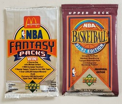 1991-92 & 1992-93 Upper Deck Basketball Lot of 2 (Two) Sealed Unopened Packs  - $14.83