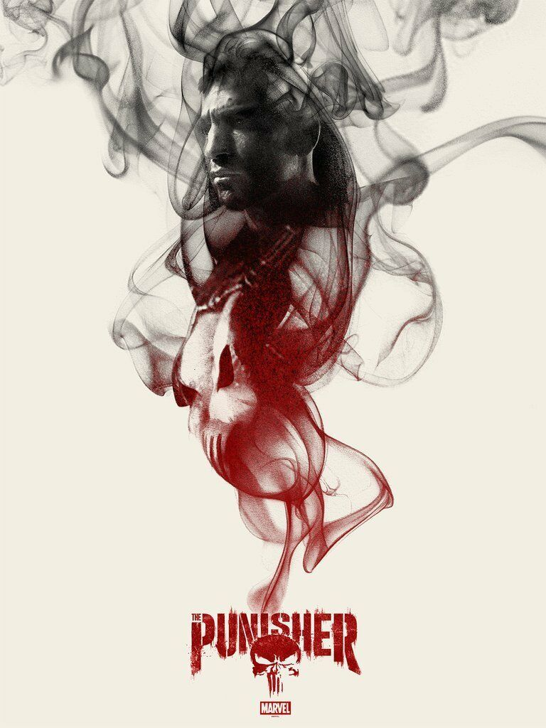 "Primary image for Marvel The Punisher by Greg Ruth Mondo Screen Print Poster /250 - 18"" x 24"""