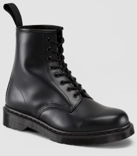 Dr. Martens Unisex 1460 8-Tie Lace-Up Boot,Black Smooth,UK 7 (US  8,  9) M US