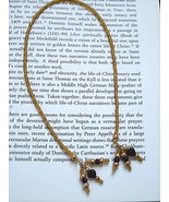 GOLD BEADED BOOKMARKER WITH GLASS GARNET HEART BEADED TASSELS - $5.00