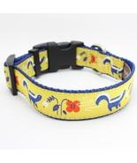 Pepe Jaune Jacquard Adjustable Dog Collar / Made in Japan - $29.00