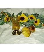 Home Interiors Tall Amber Votive Cups Homco - $9.99