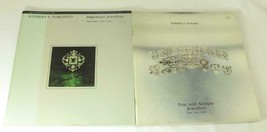 2 Sothebys Toronto Auction Catalogs Fine and Antique Jewelry Important 1981 - $74.76