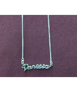 Sterling Silver Name Necklace - Name Plate - VANESSA - $54.00