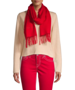 Roberto Cavalli Wool & Cashmere Blend Fringe Scarf  Tomato MSRP: $395.00 - $197.99