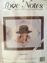 Love Notes Counted Cross Stitch Kit #08317 Soft Feathers Mat included - $4.95