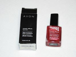 Avon Mosaic Effects Top Coat Red Lava 12 ml 0.4 fl oz polish mani pedi - $10.66