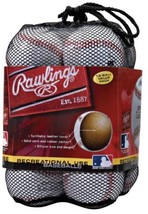 Rawlings Official League Recreational Use Baseballs (Pack Of 12) - $31.64