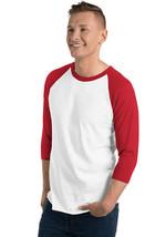 Tultex 3/4 Sleeve Raglan T-Shirt Baseball tee tshirt Top for Men Women-245 - $12.19+