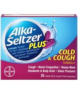Alka-Seltzer Plus Cold and Cough Liquid Gels, 20 Count - $4.95