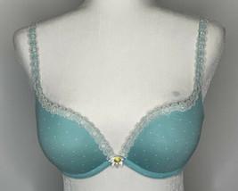 Victoria's Secret Padded 34C Blue Polkadot Wire Bra L9 - $9.41