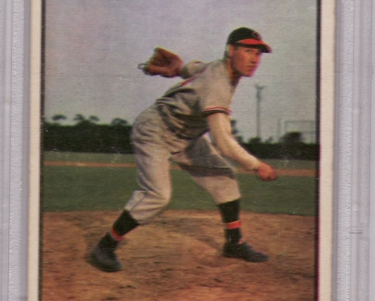 Bob feller 1953 bowman color  114 psa4