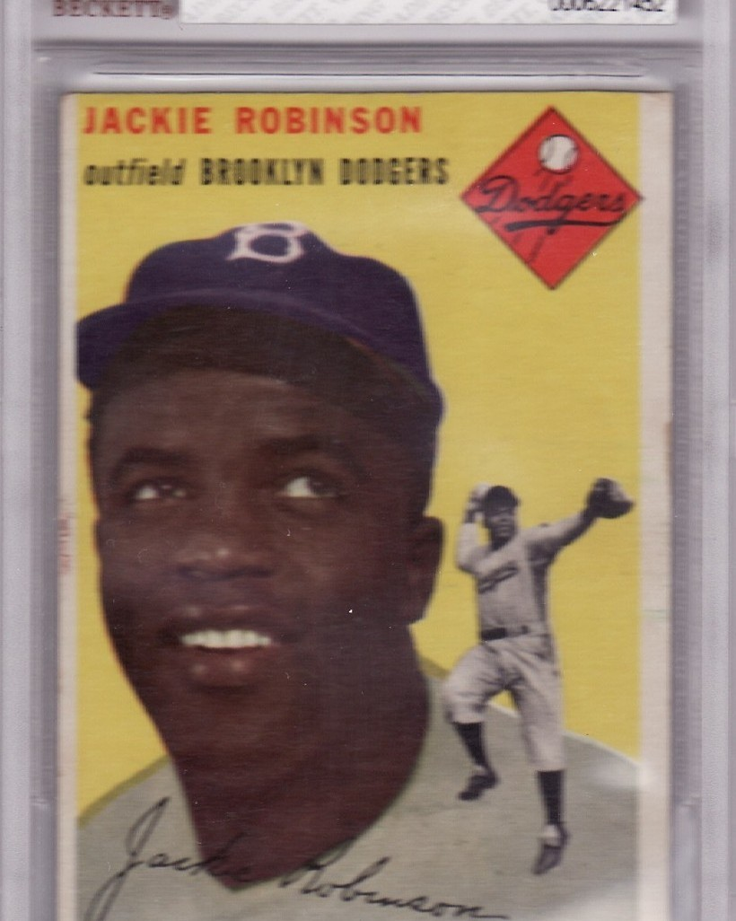 Jackie robinson 1954 topps  10 bvg 4 vg ex