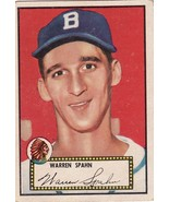Warren Spahn 1952 Topps #33 Baseball Card - $125.00