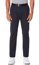 NEW MENS PERRY ELLIS SINGLE PLEATED TAPERED NAVY BLUE PANTS 30 X 30 $79 image 1