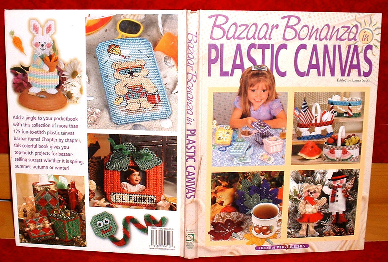 Bazaar Bonanza in Plastic Canvas Laura Scott Crafts hobby needlework illustrated
