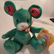 Precious Moments Tender Tails Rosie Mouse Plush Stuffed Animal Toy Green... - $5.87