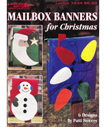 MAILBOX BANNERS FOR CHRISTMAS SANTA SNOWMAN WREATH - $4.95