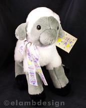 """Heartline Lovey Lamb Easter Parade 11"""" Plush White Gray Sheep Vtg 1991 H... - $14.95"""