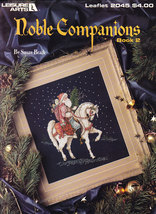 CHRISTMAS CROSS STITCH NOBLE COMPANIONS SANTAS HORSE BEAR LEISURE ARTS 2045 - $4.00