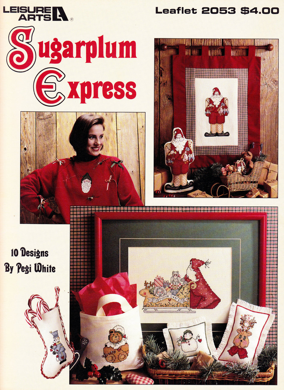 Primary image for CROSS STITCH SUGAR PLUM EXPRESS CHRISTMAS LEISURE ARTS 2353