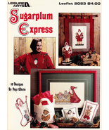 CROSS STITCH SUGAR PLUM EXPRESS CHRISTMAS LEISURE ARTS 2353 - $4.00