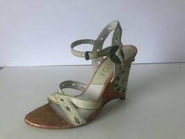 Christian Dior white Gaucho wedges heels shoes 35.5 UK 3  - $171.14