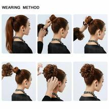 Natural Color Curly Messy Bun Hair Piece Scrunchie Hair Extension image 10