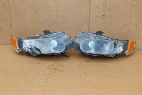 06-09 Saab 9-5 HId Xenon Headlight Head Light Lamps Set L&R - POLISHED