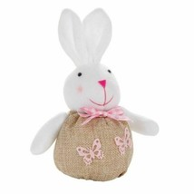 Mini Bunny with Burlap Body, Plush arms, ears, & head Shelf or Table Sit... - $3.00
